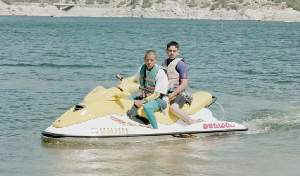 Alfredo and Jose on the jet-ski