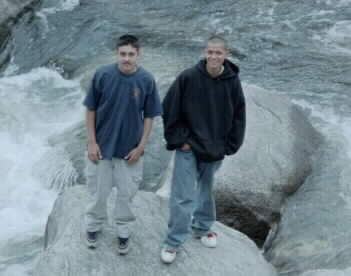 Jose and Alfredo on the rocks